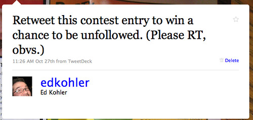 Retweet Contests to Get Unfollowed