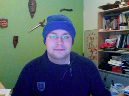 Doing my bit for Blue Beanie Day