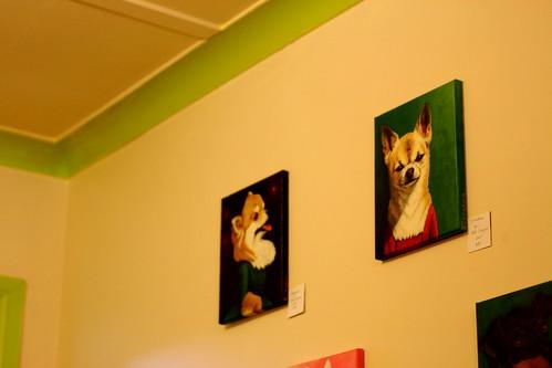 Saturday: Artwork in a Petone Cafe