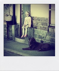 #12 (tsienni) Tags: dog color girl fun kid child play sweden stockholm moment bestfriend vaxholm roslagen polaroin thedefiningtouchgroup deftouch