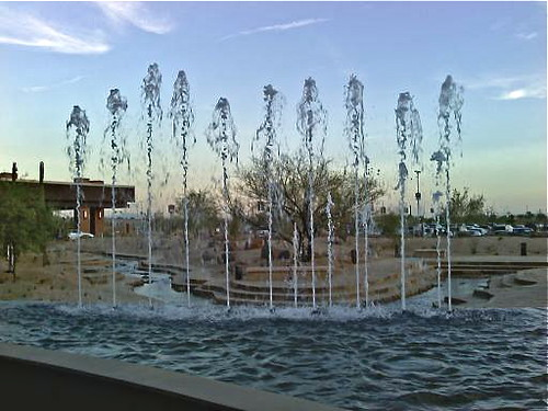 Fountain at Wild Horse Pass