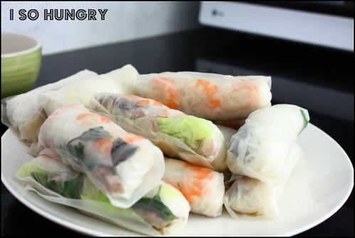 soft rice paper rolls