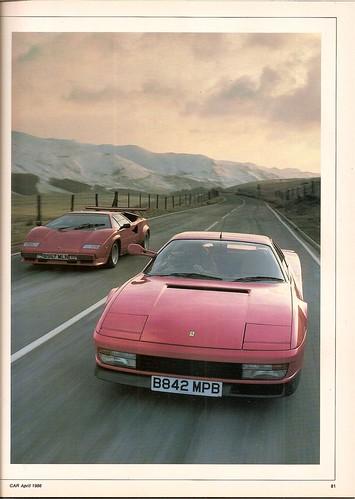 Ferrari Testarossa Lamborghini Countach Twin Road Test 1986 4