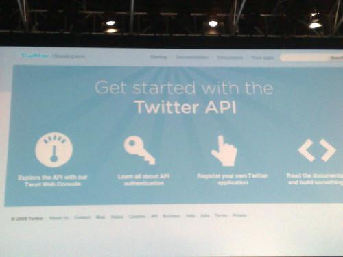 Twitter developers site #leweb09 #twitter