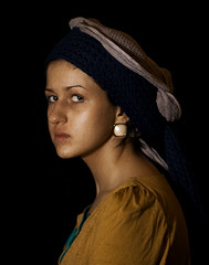 Girl With A Pearl Earring (heatherooby) Tags: girl painting vermeer headscarves pearlearring