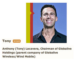 Anthony (Tony) Lacavera, Chairman of Globalive