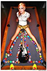 .jelly donut. (.SANCHEZ.) Tags: portrait music woman game art feet colors photoshop canon weird rainbow shoes colorful angle sandiego boots guitar creative balls symmetry camo highrise brook pooltable sanchez gibsonlespaul jellydonut 40d kennysanchez kennysanchezcom forgedclothing