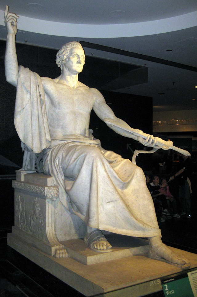 Horatio Greenough's Washington as Zeus
