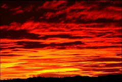 Fire in the Sky (Dean Leh Photography) Tags: sunset orange newmexico southwest fire potofgold navajonation