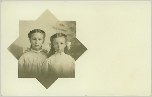two children in cutout