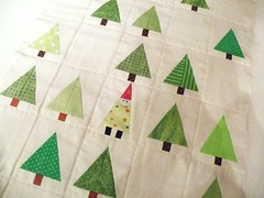 Wonderful forest (monaw2008) Tags: tree gnome handmade fabric quilting patchwork paperpieced tablerunner monaw monaw2008
