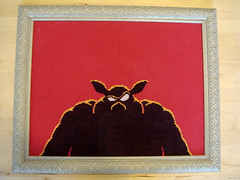 Return of Ganon (benjibot) Tags: crossstitch crafts videogames glowinthedark nes legendofzelda ganon