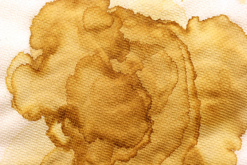 Coffee Stained Napkin by GrungeTextures