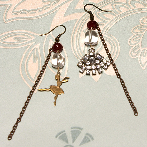 Tiny Dancer reworked vintage earrings