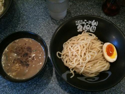 坦々・鶏白湯 麻油 つけ麺 (吟醸らーめん久保田)