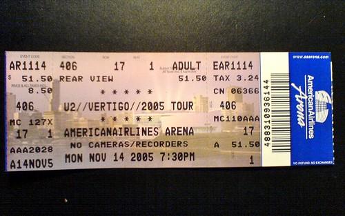 U2 - American Airlines Arena - 20. November 2005