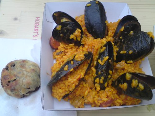 Taste paella and venison/wallaby pastry