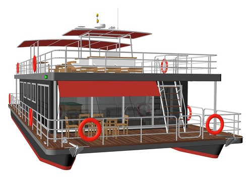 Pontoon House Boat Car Interior Design
