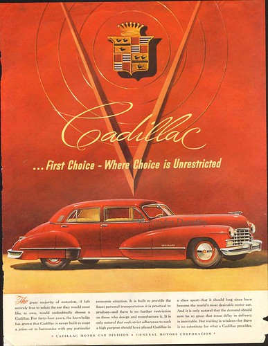 1946 Cadillac Sedan Classic Auto Advertisement
