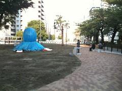 恵比寿のたこ公園が仮オープン? たこは隠れてるけど。