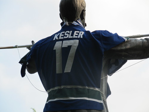 Bring it Home: Lord Stanley in Stanley Park Dressed in Ryan Kesler #17 Vancouver Canucks Jersey