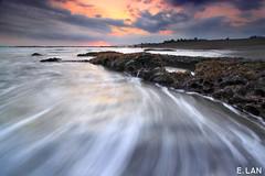 Entering The Stream (eka lanus) Tags: bali beach landscape pererenan