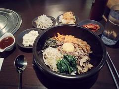 Bi Bim Bap (Xomak) Tags: korean bibimbap koreanrestaurant ogamchicken dinnerforone tableforone 비빔밥