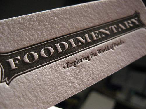 Foodimentary Business Cards - Front Texture