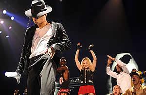 Michael Jackson Madonnna concierto Londres