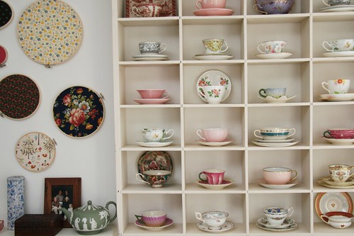 Australian Penelope Wait's collection of teacups
