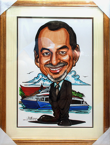 Caricature for Bintan Resort Ferries with frame