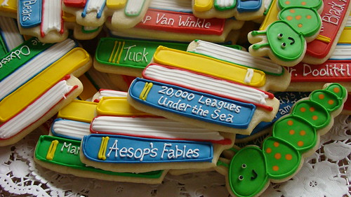 Cookies at library opening reception