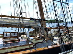 P1018441_01 (photos-by-sherm) Tags: wooden nc sailing ship vessel visit deck bow tall wilmington tallship stern masts prideofbaltimoreii clipper prideofbaltimore yardarms