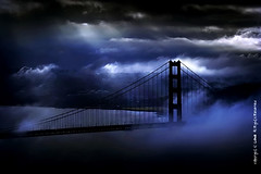 jazzy blue ray magic (louie imaging) Tags: world 2005 sf sanfrancisco california ca city bridge blue light sky usa cloud fog skyline clouds america golden bay gate san francisco day ray moody play dynamic wind blu expression magic united famous low dream foggy harry potter evolution icon dreaming hour area romantic mystical dreamy rays states breeze drama iconic playful jazzy evolve