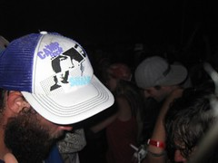 Camp Hat (Use Your Head) Tags: festival neon rage latenight brownie simonposford dancetent shpongle mudfest discobiscuits coolkids campbisco bluetech marcbrownstein useyourhead mariaville drfameus summer2009 lostinsound campbisco8 campbisco2009