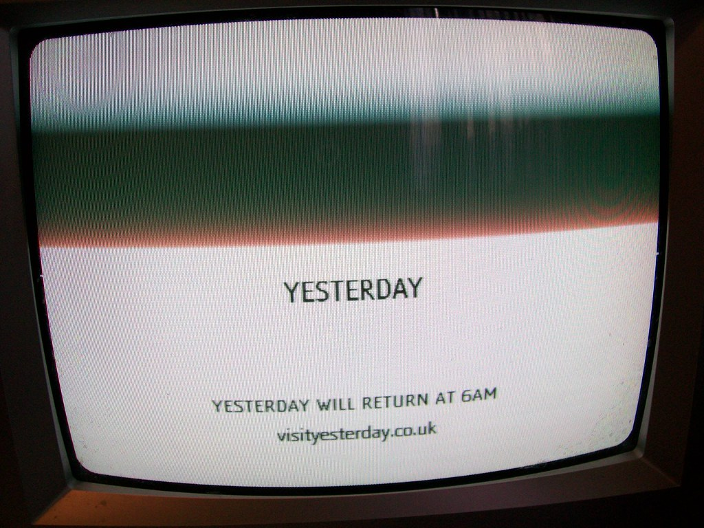 Yesterday TV channel - spooky message