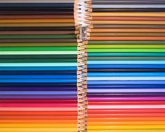 Pencil zipper 1 (Maron) Tags: color colour colors pencils pattern colours zipper zip supermarion marionnesje twphch linjes