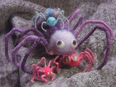 Wiry Spiders /   (borometz) Tags: color art wool monster toy spider purple violet craft felt plush fantasy needlefelting legend mythology myth handcraft   needlefelted         atelierborometz      wiryspiders