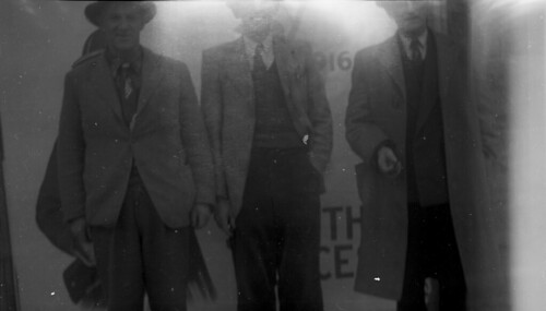 Three men and shadow UFO Picture
