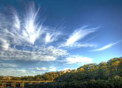 641 shutter speed. (loveroni) Tags: park bridge winter sunset clouds speed nikon sydney australia killarney shutter roger heights davidson roseville d90 ronidesigns loveroni