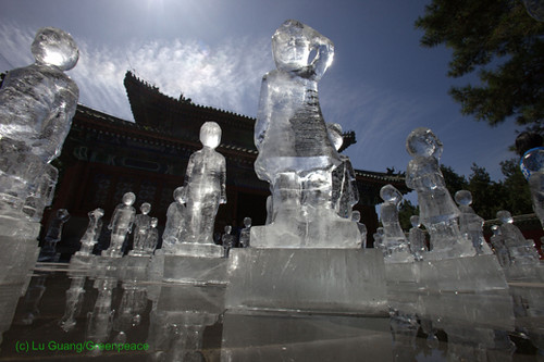 Ice sculptures in Beijing, China