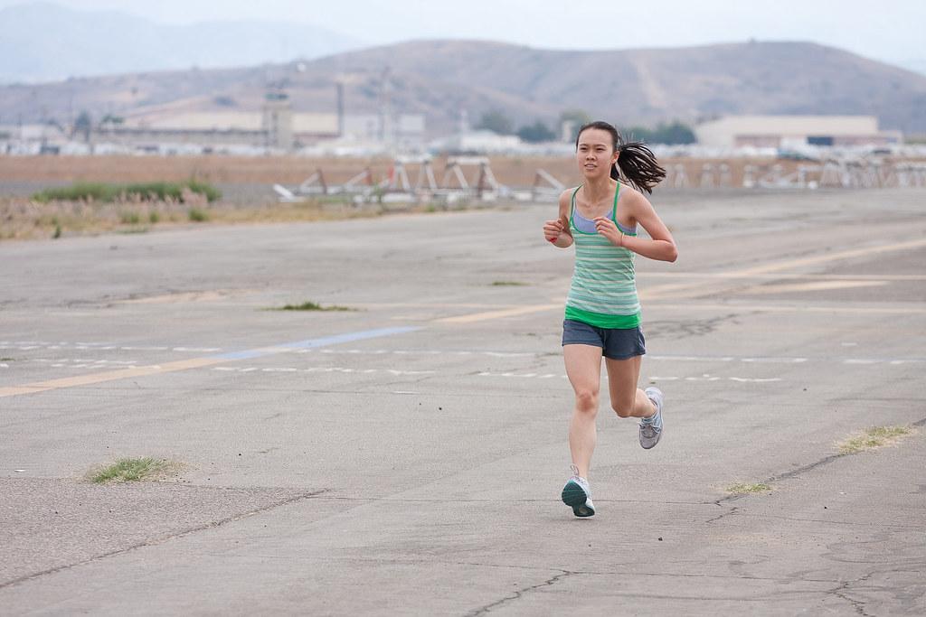 Shannon near the finish