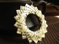 Origami Pendant - Book Worm