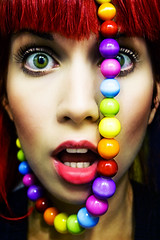 You freak! (Elpis.) Tags: self canon eyes autoretrato fake lips freak softened overdone liquify elpis photoshoprules 400d myhairisnotthatred colorphotoaward myeyesarenotgreen