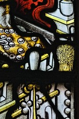Leicester Royal Infirmary Chapel, Leicester (Lord Muttley McFester) Tags: detail window leicester stainedglass wheatsheaf kempe charleseamerkempe leicesterroyalinfirmarychapel