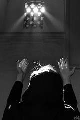 The Light Of GOD (DeLaRam.) Tags: old light color window girl blackwhite glow hand god pray help hafez delarammoobed