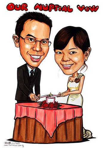 wedding couple caricatures solemnisation