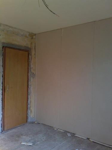 New plaster walls