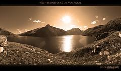 Kölnbreinsperre im Maltatal (em-si) Tags: sky panorama sun mountains alps nature water sepia austria österreich nikon wasser pano natur himmel kärnten carinthia tokina berge alpen sonne maltatal austrianalps kölnbreinsperre nikond300 tokina1116mm österreichischealpen