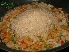 Pimientos rellenos-añadir arroz